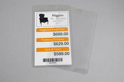 Clear Furniture Tags Packzen