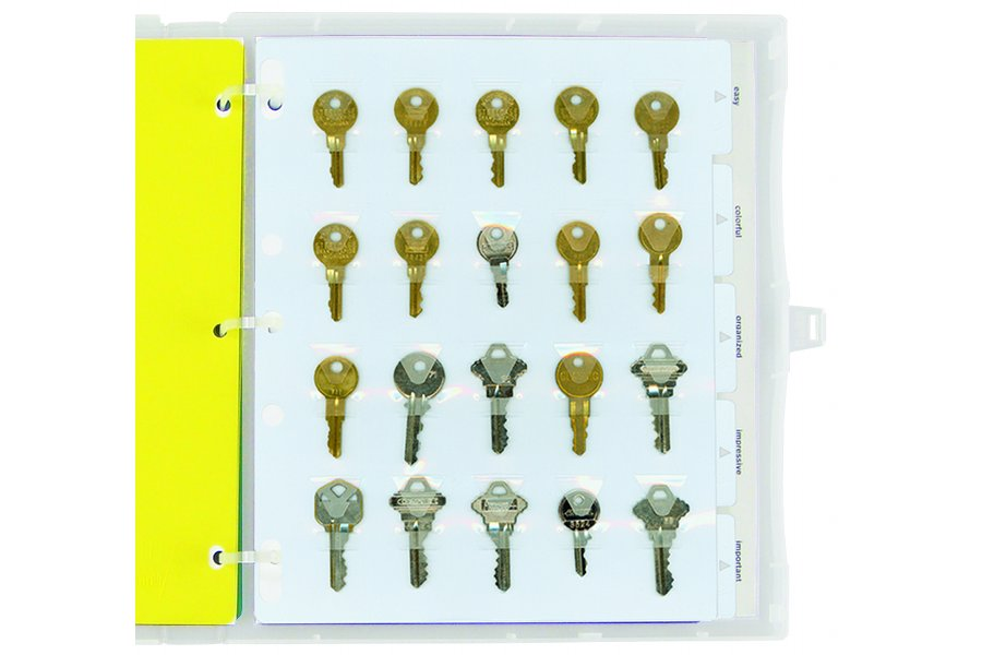 Key Holder Binder Page Packzen