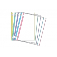 PASTEL COLOR CODED SHEET PROTECTORS