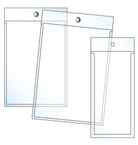 clear tag holders