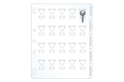 Key Holder Page with Tabs