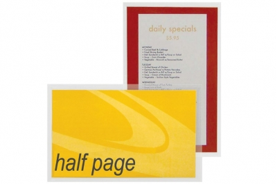 Adhesive Half Page Pocket Poly