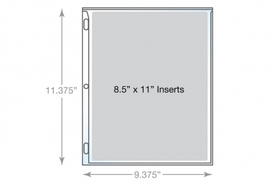 Heavy Duty Page Protector Dimensions