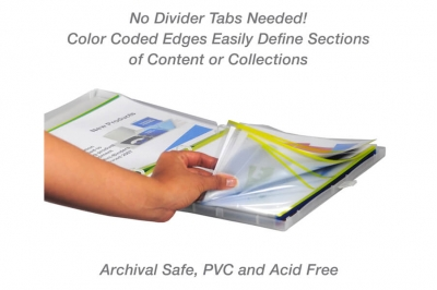 Yellow Color-Coded Sheet Protectors