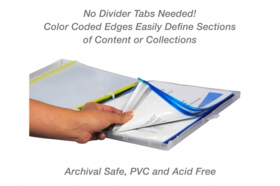 Blue Color-Coded Sheet Protectors