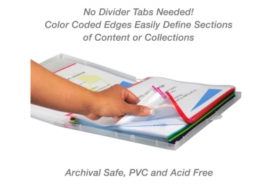 Red Color-Coded Sheet Protectors