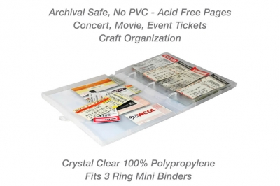 Mini Concert and Event Ticket Page Protector