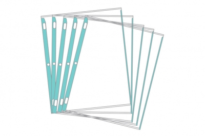 Sheet Protectors Assorted Color-Coded Edges